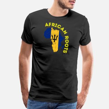 Bajan Bajan Flag African Roots - Men's Premium T-Shirt