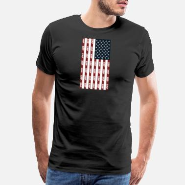 Xrp Usa Flag With Ripple XRP Digital Blockchain Crypto - Men's Premium T-Shirt