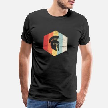 Icon Retro Sparta Helmet Icon - Men's Premium T-Shirt