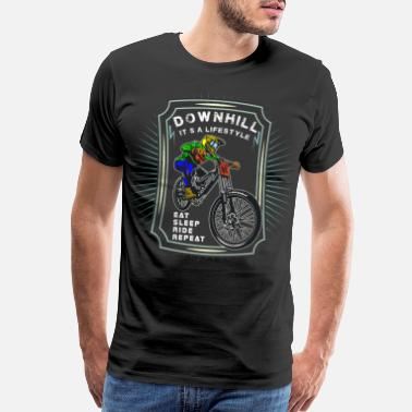 Eat Sleep Mountain Biking My Lifestyle Downhill Mountain Bike Downhiller - Men's Premium T-Shirt