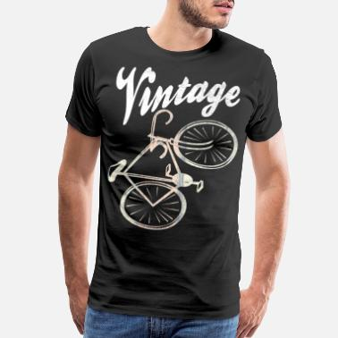On Tour A racing bike in a cool vintage style bike sport - Men's Premium T-Shirt