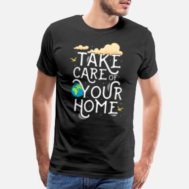 Carbon Save earth -global warming - climate change- earth - Men's Premium T-Shirt