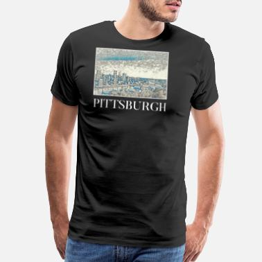 City Of Pittsburgh Pittsburgh City Skyline USA US - Men's Premium T-Shirt