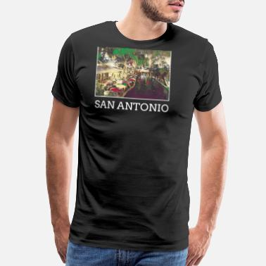 Antonio San Antonio City Skyline USA US - Men's Premium T-Shirt