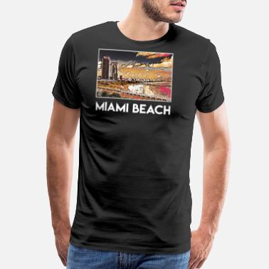 Miami Party Miami Beach City Skyline USA US - Men's Premium T-Shirt