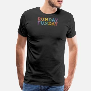 Trail Run Runday Funday - Distressed Design for Runners - Men's Premium T-Shirt