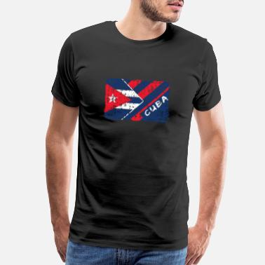 Flag Havana Cuba Flags Design / Gift Present North America - Men's Premium T-Shirt