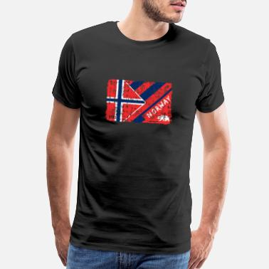 Colourful Norway Flags Design / Gift Scandinavia - Men's Premium T-Shirt