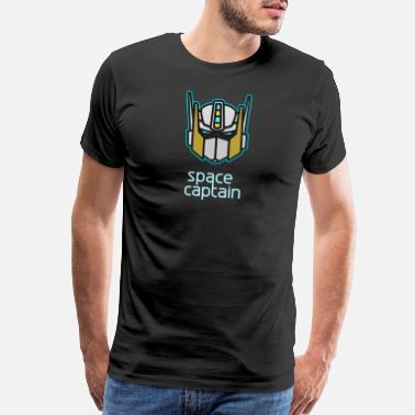 Scifi robot space captain head helmet hero kids - Men's Premium T-Shirt