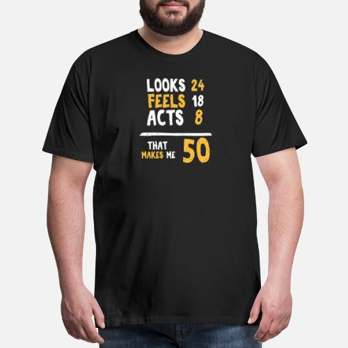 Mens Premium T Shirt50 Years Old Birthday Gift 50 Year Present