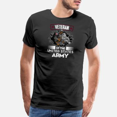 Us Army Veteran Veteran Of The United States Army - Men's Premium T-Shirt