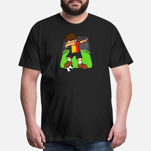 a1f9f1a3e4e Ball T-Shirts - Belgium Soccer Ball Dabbing Kid Belgians Football - Men's  Premium T. Do you want to edit the design?