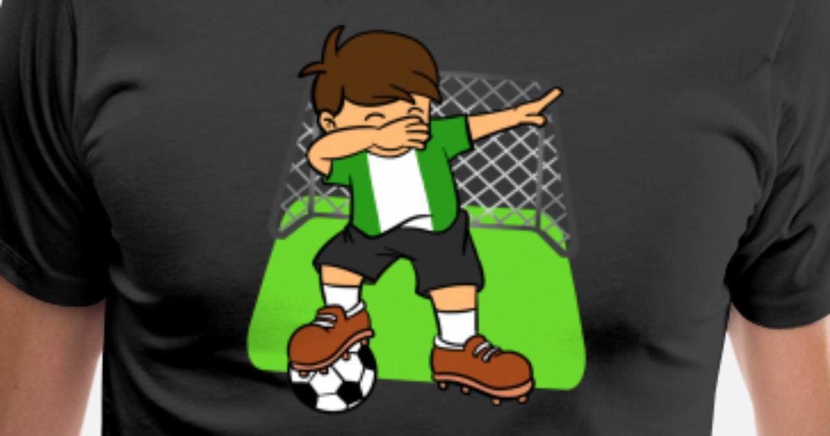 ec28ff0e4 Men s Premium T-ShirtNigeria Soccer Ball Dabbing Kid Nigerian Football