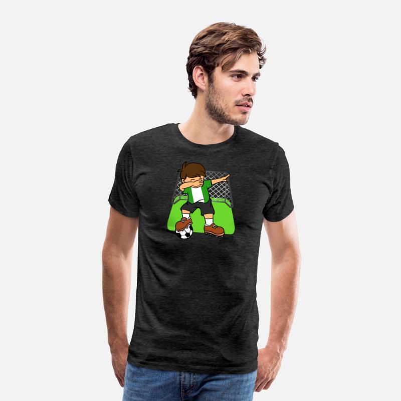 87a0973f3 Nigeria Soccer Ball Dabbing Kid Nigerian Football Men s Premium T-Shirt