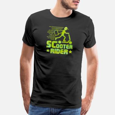 Scooter Rider - Scooter - Total Basics - Men's Premium T-Shirt