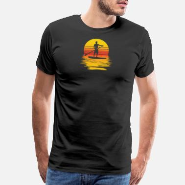 Sup SUP Stand up paddle surfer paddler Surfer Board - Men's Premium T-Shirt