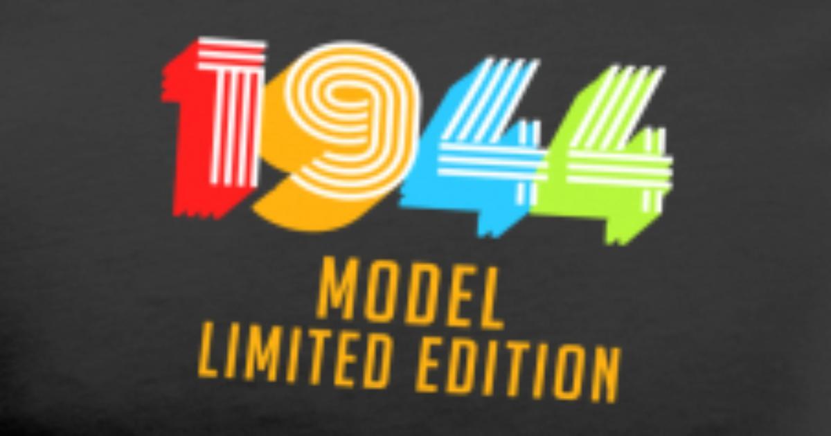Mens Premium T Shirt1944 Model Limited Edition Funny 75th Birthday