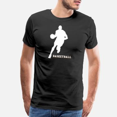 Step Basketball White - Men's Premium T-Shirt