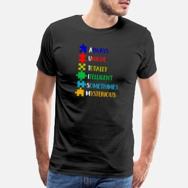Curling Grandpa Autism Awareness Defination Meaning Word Funny Shirts Gifts - Men's Premium T-Shirt