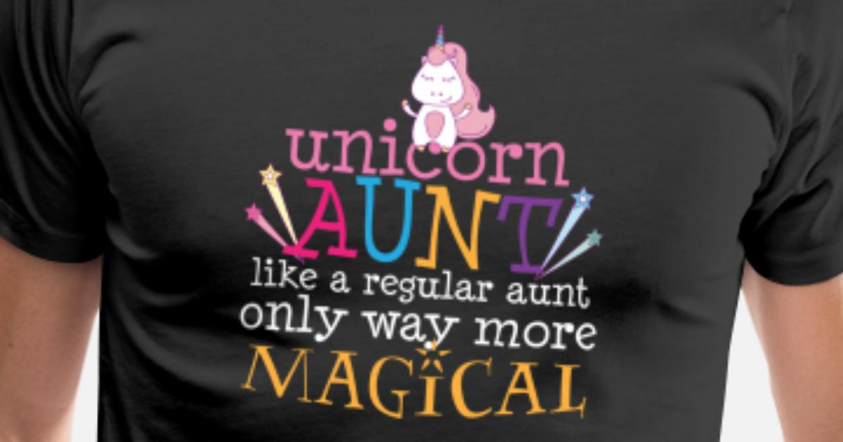 bdd422a6 Men's Premium T-ShirtUnicorn Aunt T-Shirt Funny Auntie Gift from Niece  Nephew
