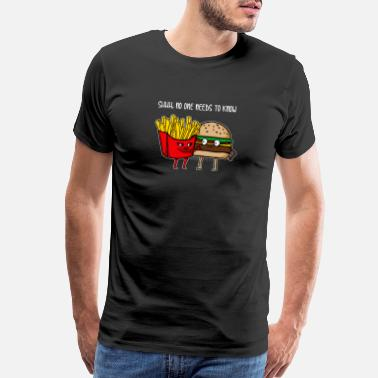 Burger Funny Cool Awesome Burger and fries gift - Men's Premium T-Shirt