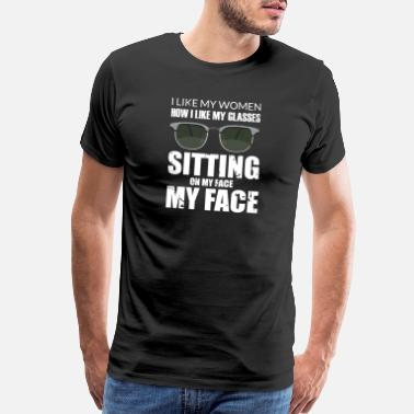 Sayings Face Sitting Oral Sex dirty naughty saying gift - Men's Premium T-Shirt