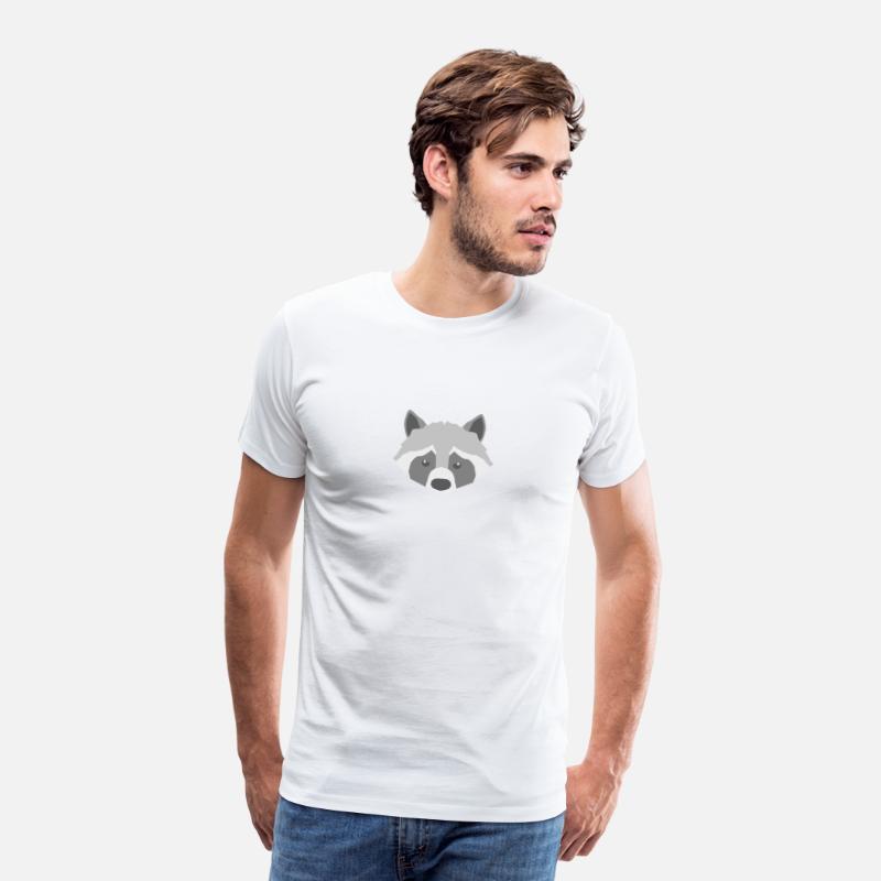 racoons are my spirit animals gift bears loving Men's Premium T-Shirt -  white