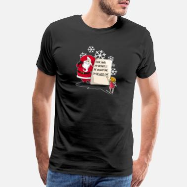 Nice List Christmas Santa My Brother Is The Naughty One Gift - Men's Premium T-Shirt