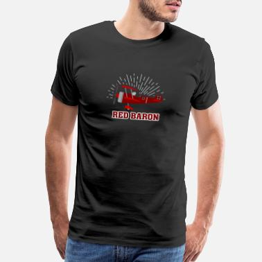 Red Baron Red Baron WW1 Pilot German Fighter Airplane Gift - Men's Premium T-Shirt