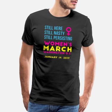 Politically Washington DC Womens March - Men's Premium T-Shirt