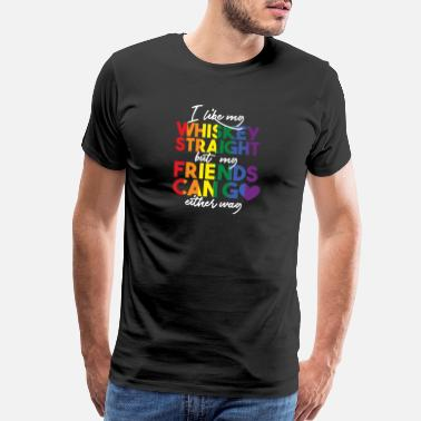 Homophobia Is Gay Lgbt Funny LGBT Shirt,phrase,gift,gift idea,rainbow,whi - Men's Premium T-Shirt