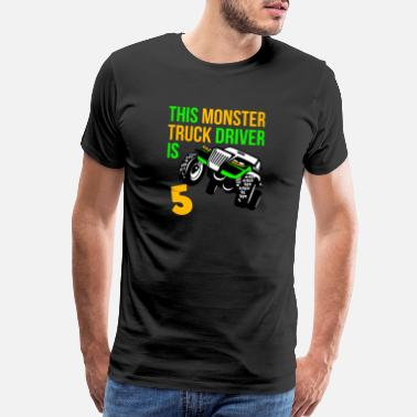 Big 5 Monster Truck Birthday 5 Year Old Gift - Men's Premium T-Shirt