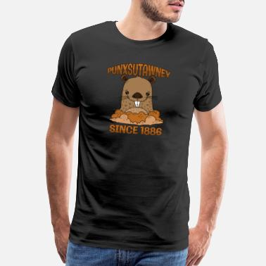 Punxsutawney Phil Groundhog Day Punxsutawney Phil Pennsylvania 1886 - Men's Premium T-Shirt