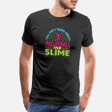 Slime Cute Volleyball And Slime - Men's Premium T-Shirt