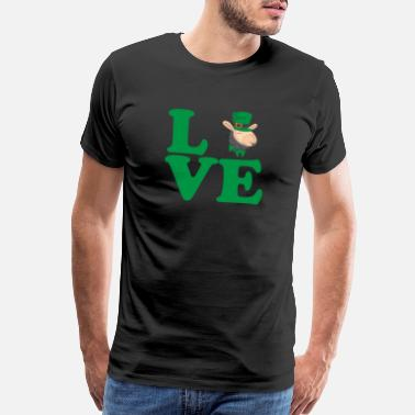 Irish Festival St. Patrick's Day Gift Llama Alpaca Love - Men's Premium T-Shirt