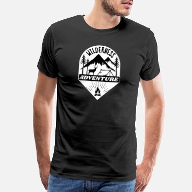 Camper Trailer wilderness adventure - Men's Premium T-Shirt