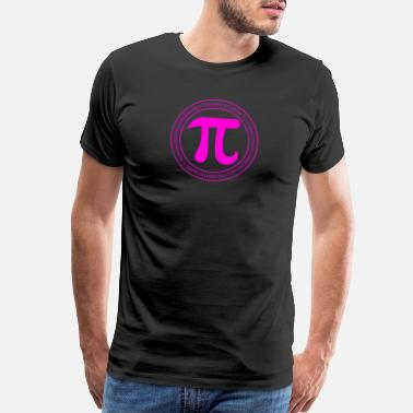 National Symbol Pi Day Purple Numbers Symbol Math March 14 Geek - Men's Premium T-Shirt