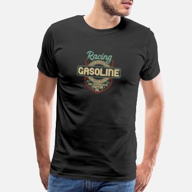 Repair Shop Racing gasoline. Motor oil - Men's Premium T-Shirt