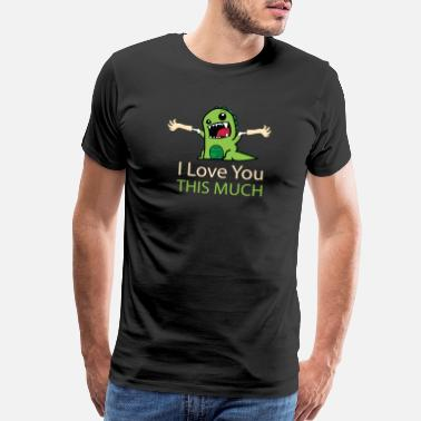 Significant Cute Funny Valentines Day 2019 Dinosaur Love You - Men's Premium T-Shirt