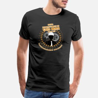 Old Grandad Never Underestimate Old Engineering Tshirts-png - Men's Premium T-Shirt