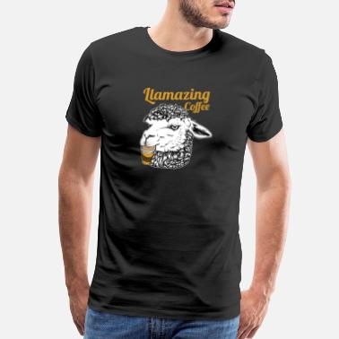 Coffee-lover Llamazing Coffee Animal Funny Giftidea - Men's Premium T-Shirt