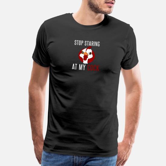 Stop Staring At My Cock Hoodie Funny Rude Chicken Lover Gift Men Sweatshirt Top