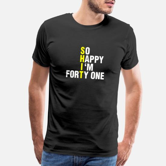 41st 41 Years Old Forty First Birthday Present Funny Womens Heather T-Shirt