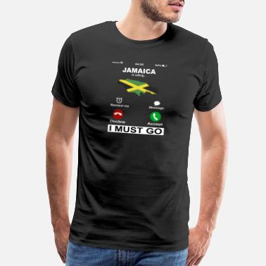 Awesome Jamaica Is Calling I Must Go - Men's Premium T-Shirt