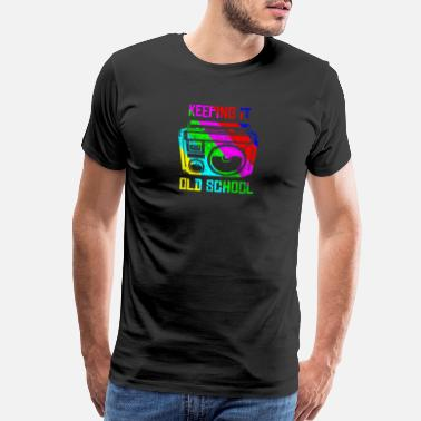 Regge Keeping It Old School 80s 90s Boombox T Shirt Retr - Men's Premium T-Shirt