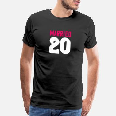 Show Your Passion Married 20 - Men's Premium T-Shirt