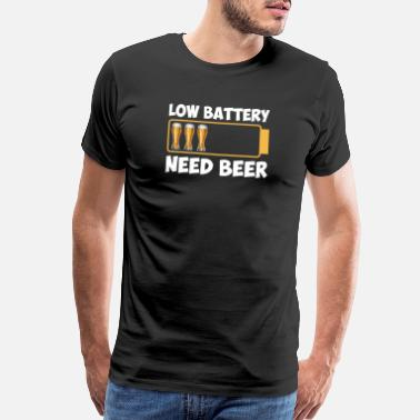 Let Down Low Battery Need Beer - Men's Premium T-Shirt
