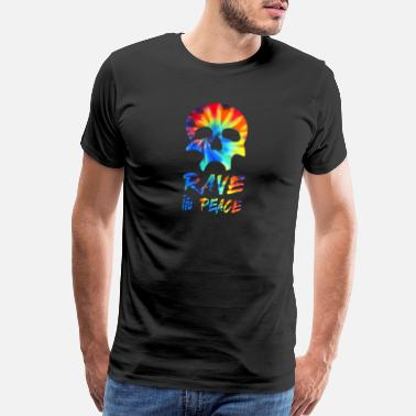 Disc Jockey Rave In Peace Skull EDM Fan Gift - Men's Premium T-Shirt