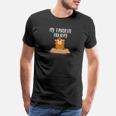 Yield Groundhog day Sarcastic Funny - My favorite Holida - Men's Premium T-Shirt