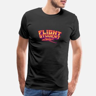 School Day FLIGHT STUDENT JET Flight Student Gift For Pilot - Men's Premium T-Shirt
